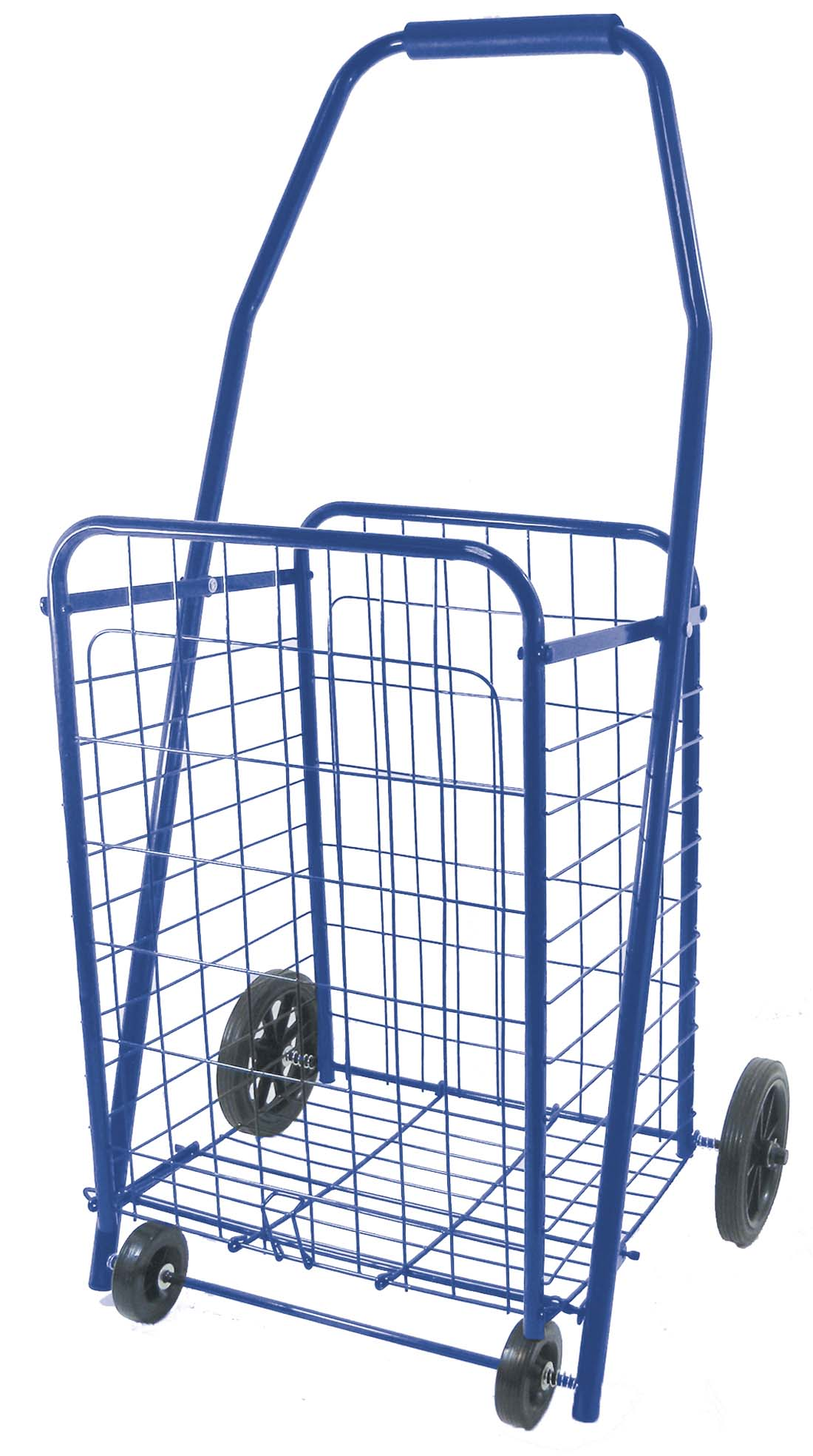 View METAL SHOPPING CART 36 X 20 X 17 INCH WITH 4 WHEELS