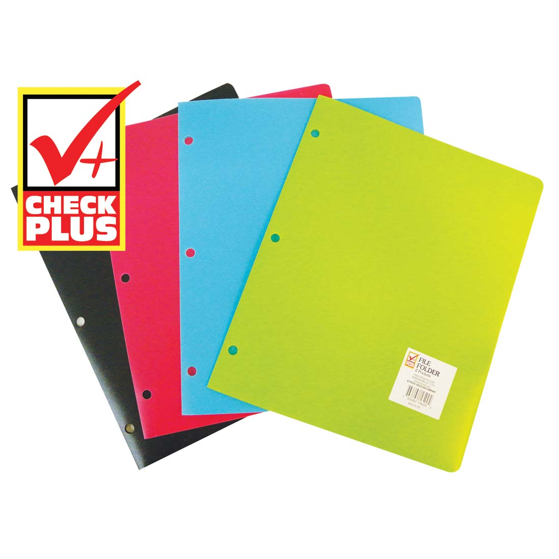 View FILE FOLDER 2 POCKET WITH BINDER HOLES ASSORTED COLORS