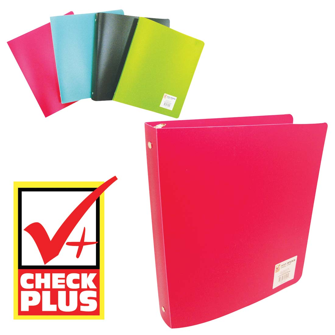 View BINDER 1 INCH 3 RINGS ASSORTED COLORS
