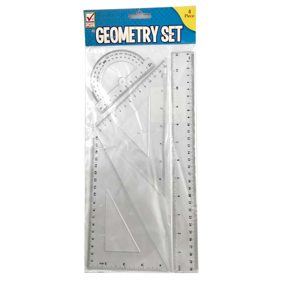 View GEOMETRY RULER SET 4 PIECE