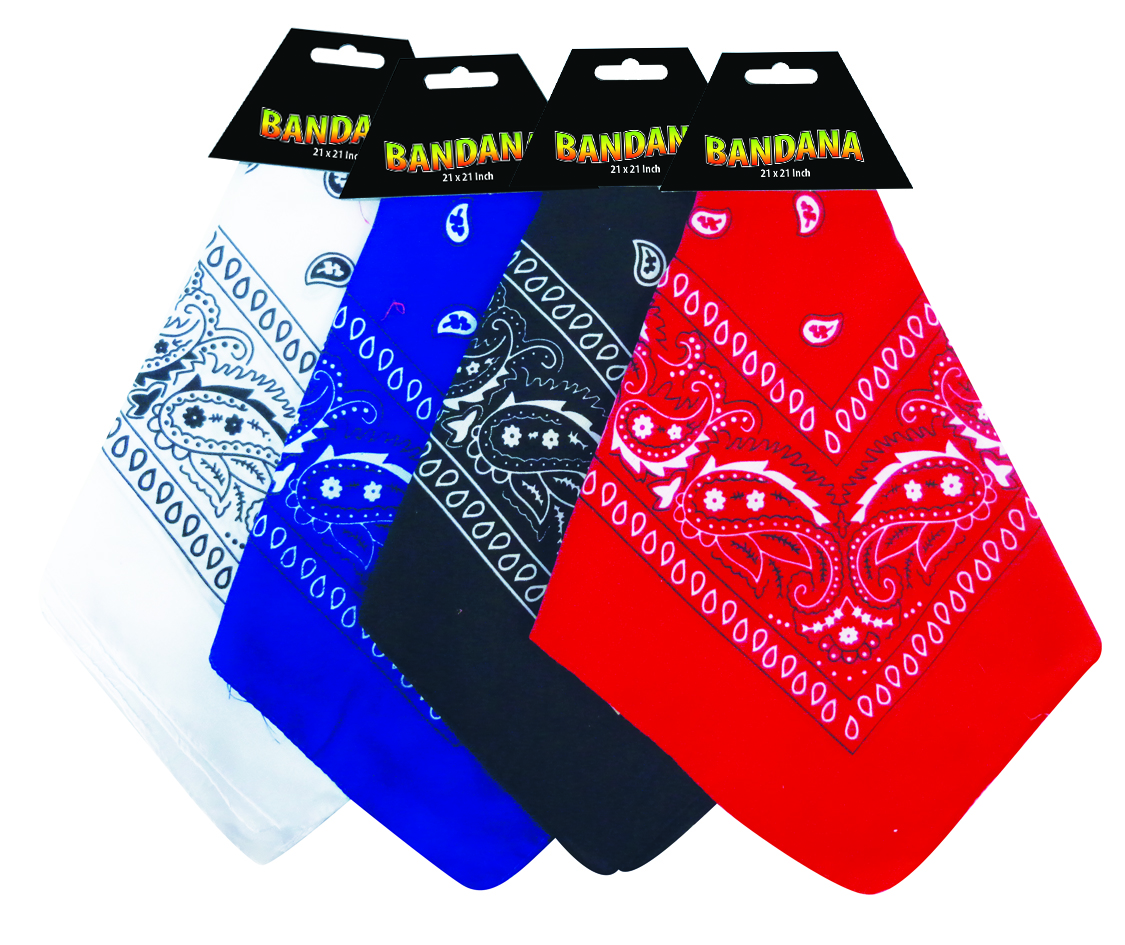 View BANDANA 21 X 21 INCH ASSORTED COLORS