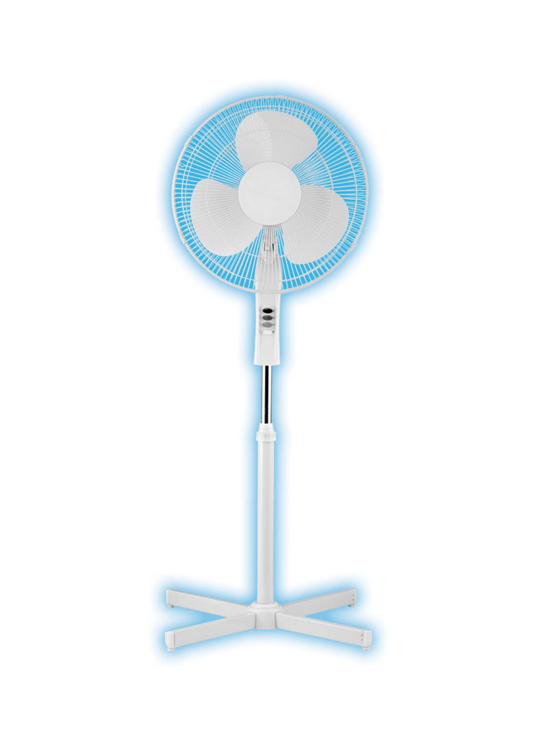 "View PEDESTAL FAN 16 INCH 3 SPEED OSCILLATING ADJUSTABLE ""ETL APPROVED"""