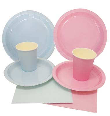 View PARTY SOLUTION PARTY SET EVERYDAY PINK & BLUE INCLUDES 18 EACH- 8 CT 9 INCH PLATE/ 8 CT 7 INCH PLATE/8 CT 9 OZ CUPS/ 20 CT NAPKINS