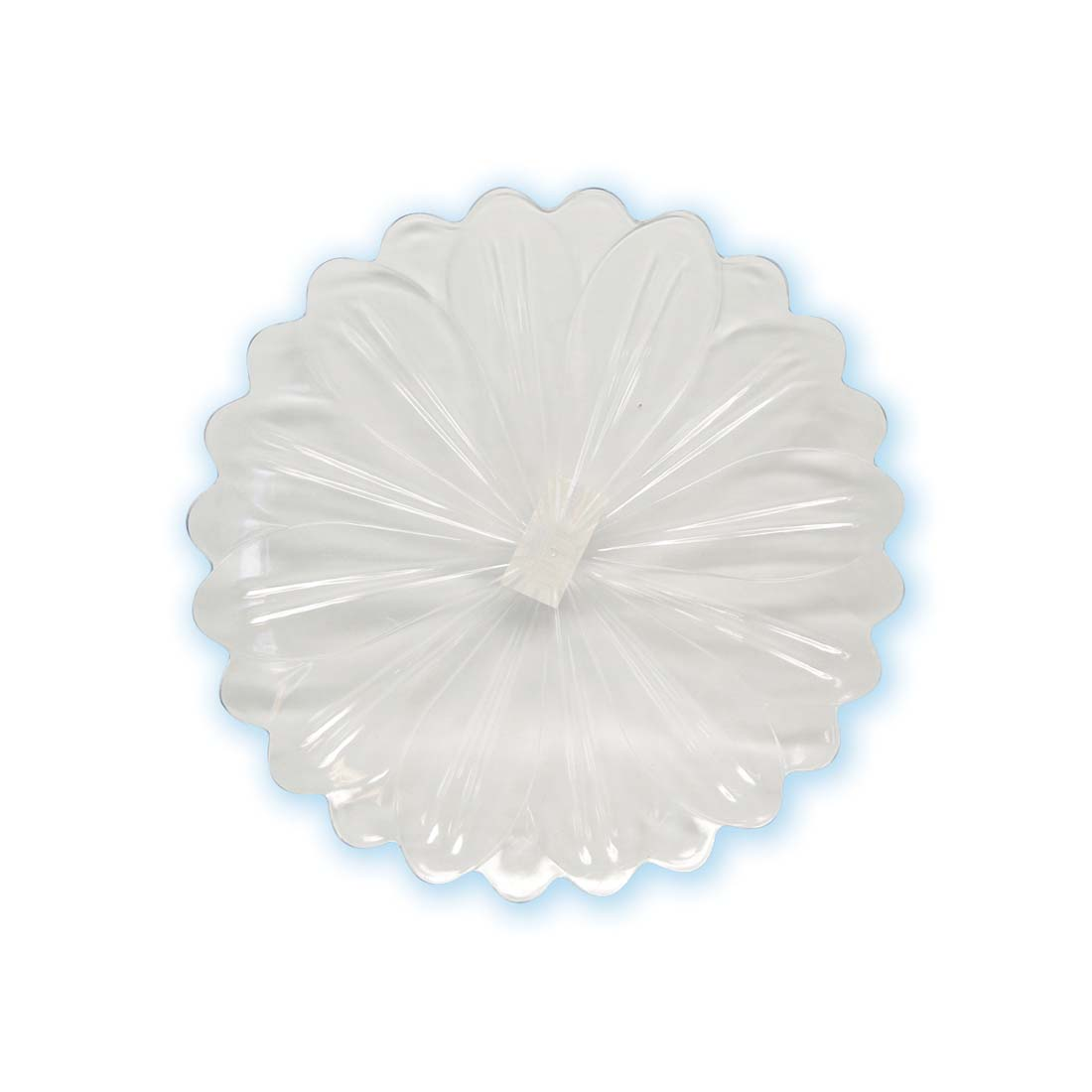 View CRYSTAL PLASTIC TRAY 11 INCH SCALLOPED FLOWER DESIGN