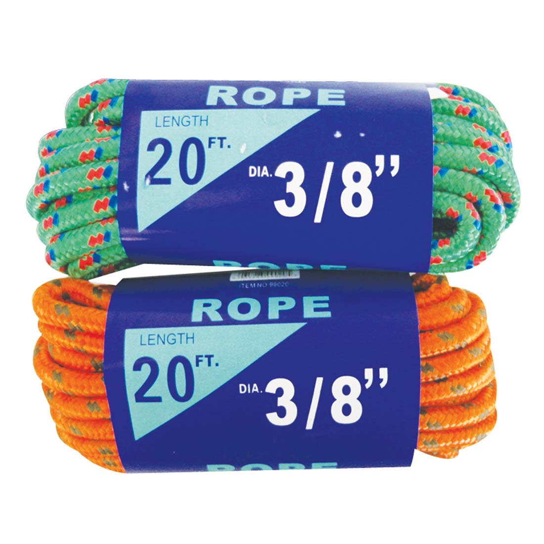 View ALL PURPOSE ROPE 20 FT 3/8 INCH IN DISPLAY ASSORTED COLORS