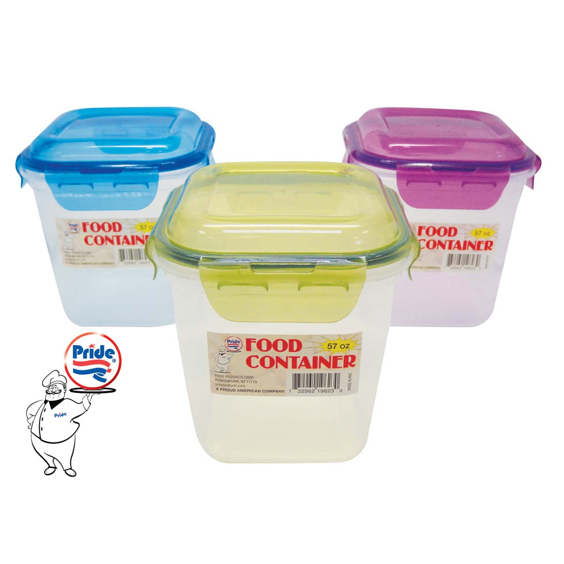 View FOOD CONTAINER  57 OZ LOCKING LID RECTANGULAR