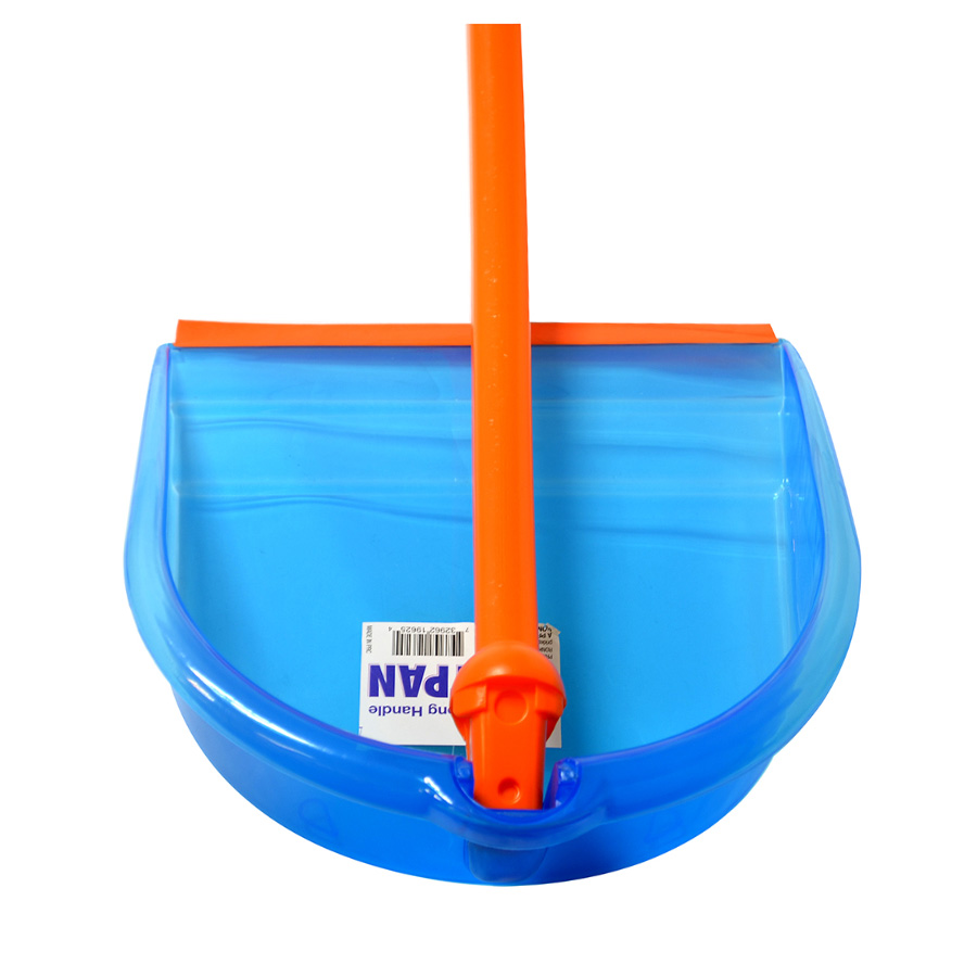 View FOLDING DUSTPAN WITH HANDLE 31 INCH FOLDABLE ASSORTED COLORS