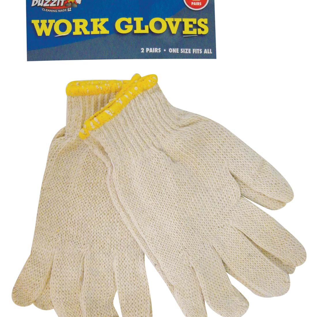 "View WORK GLOVE 2 PAIR ""ONE SIZE FITS ALL"""