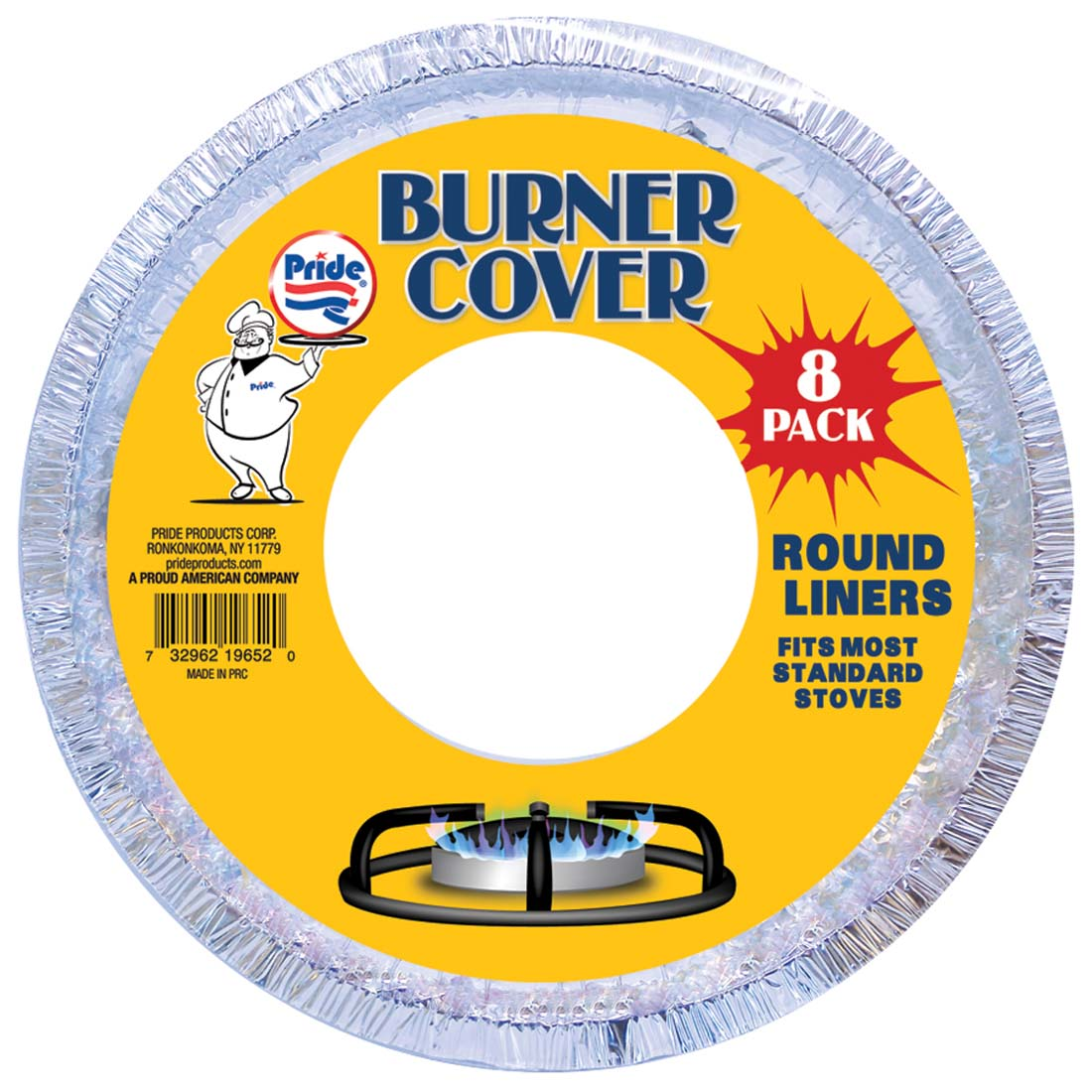 View BURNER LINER ROUND 8 PACK 7.5 INCH