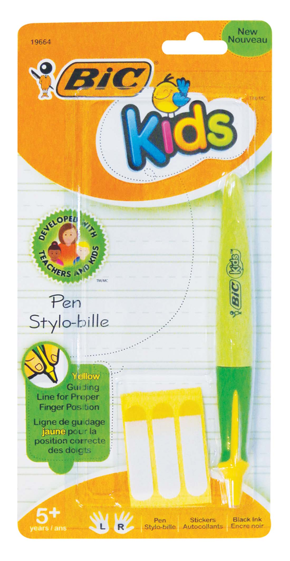 View BIC KIDS PEN INCLUDES 3 NAME LABELS BLACK INK