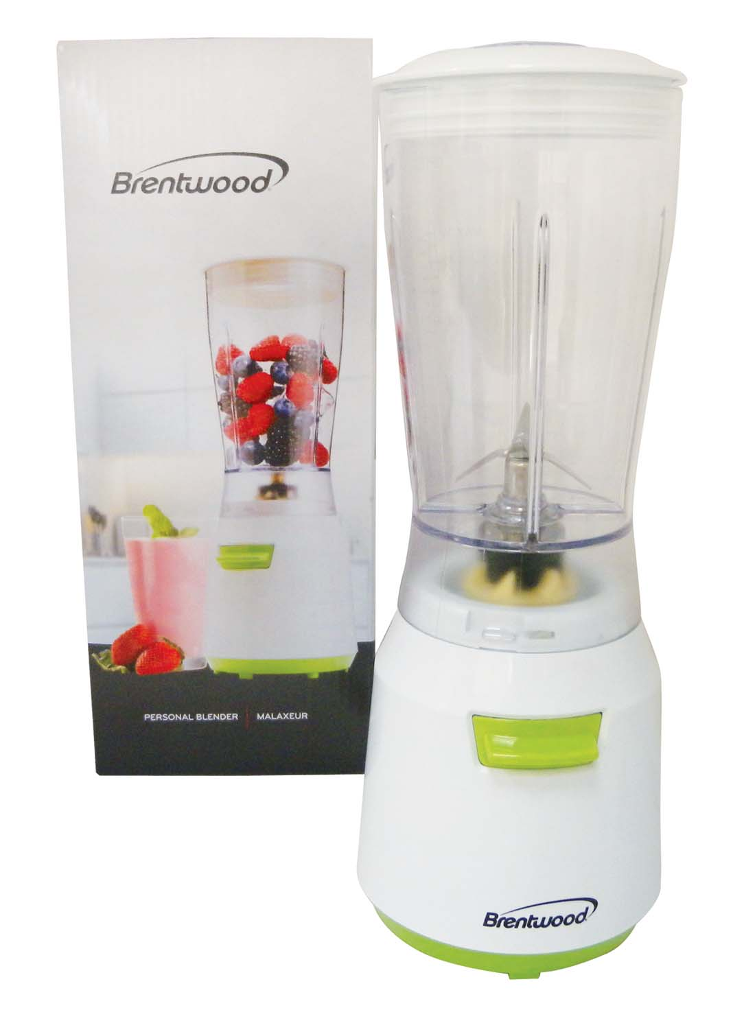 View BRENTWOOD PERSONAL BLENDER 14 OUNCES 180 WATTS WHITE CETL LISTED