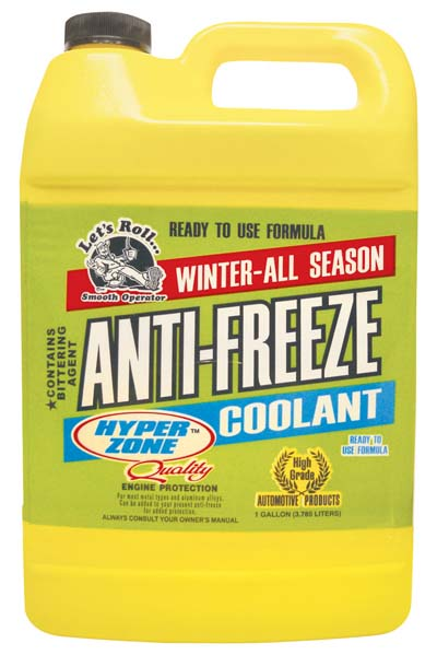 View HYPERZONE ANTIFREEZE AND COOLANT 1 GALLON PROTECTS TO -O DEGREES ** MADE IN USA **