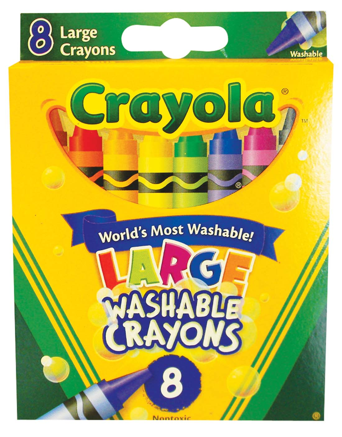 View CRAYOLA LARGE WASHABLE CRAYONS 8 COUNT