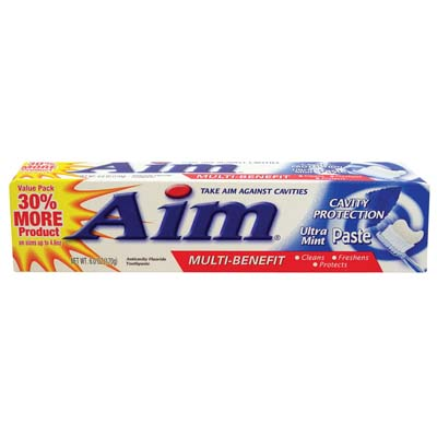 View AIM TOOTHPASTE 5.5 OZ MULTI BENEFIT ULTRA MINT PASTE