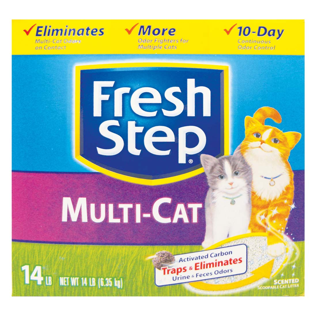 View FRESH STEP CAT LITTER 14 LB BOX MULTI-CAT SCENTED