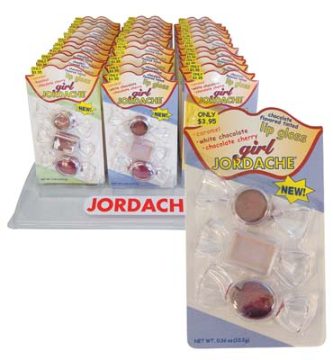 View JORDACHE LIP GLOSS 3 PACK CHOCOLATE FLAVORED