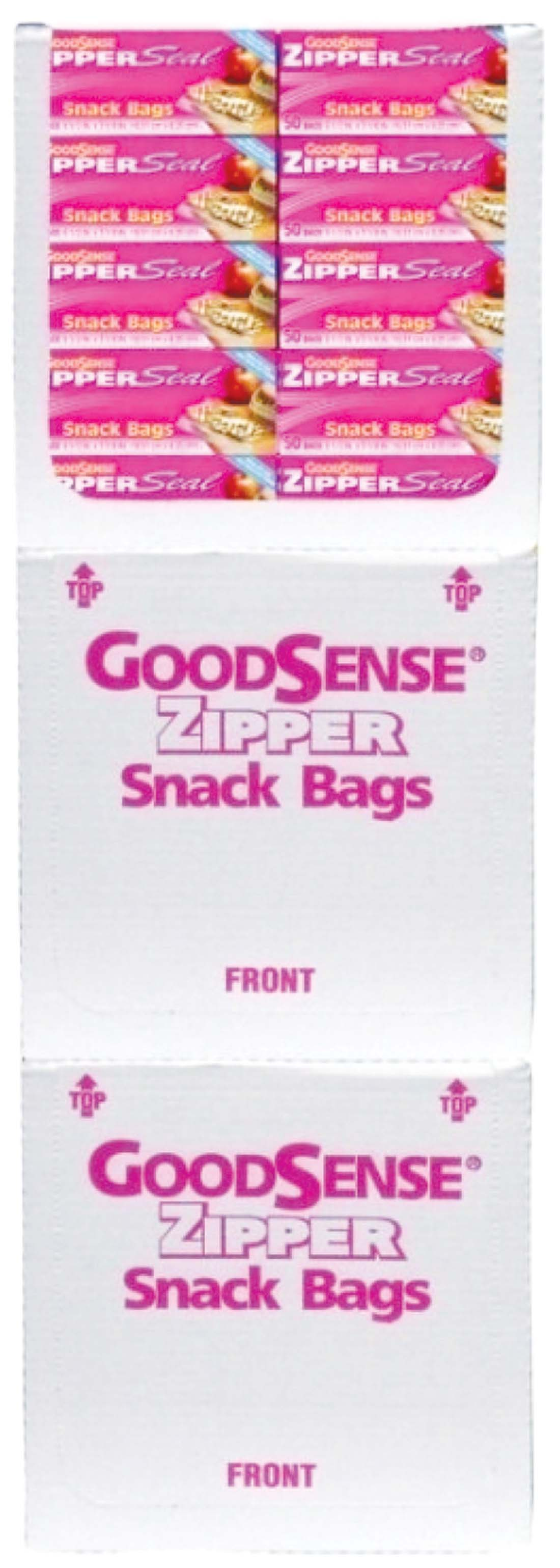 View GOOD SENSE SNACK BAG 50 COUNT 6 1/2 X 3 1/4 INCHES ZIPPER SEAL