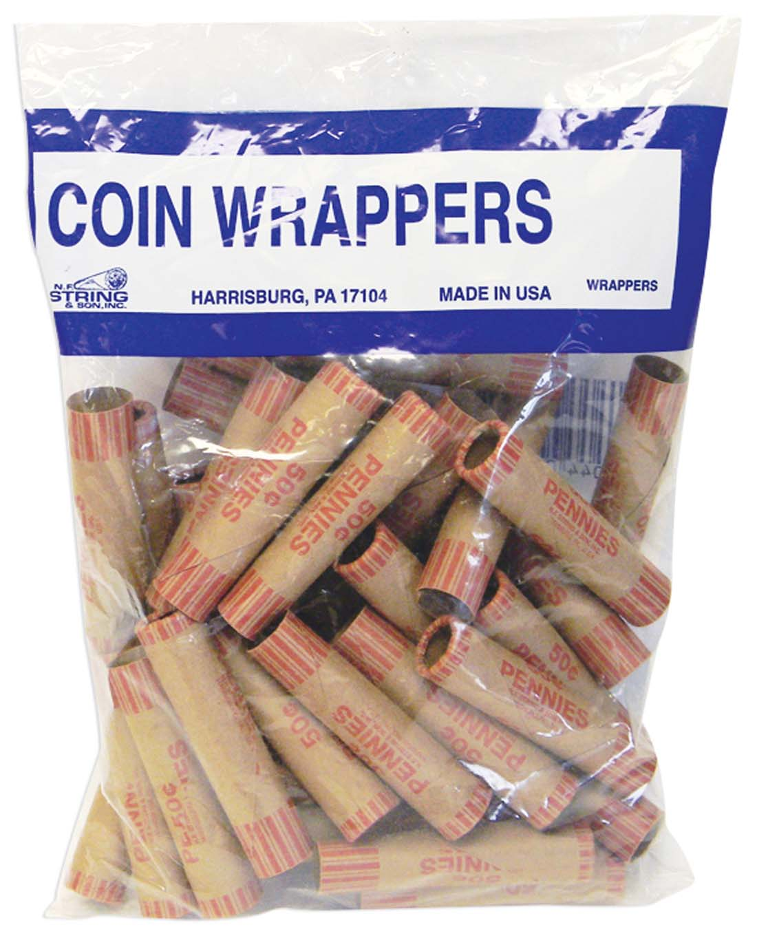 View COIN WRAPPERS 36 COUNT PENNY