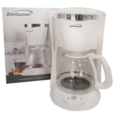 View BRENTWOOD COFFEE MAKER 12 CUP  WHITE ETL LISTED