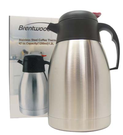 View BRENTWOOD COFFEE THERMOS 42 OZ STAINLESS STEEL
