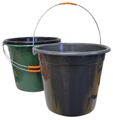 View PLASTIC PAIL 3 GALLON WITH METAL HANDLE ASSORTED COLORS