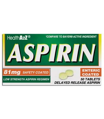 "View ASPIRIN COATED TABLETS 50 CT 81 MG ""COMPARE TO BAYER"""