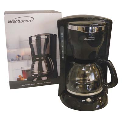 View BRENTWOOD COFFEE MAKER 12 CUP BLACK ETL LISTED