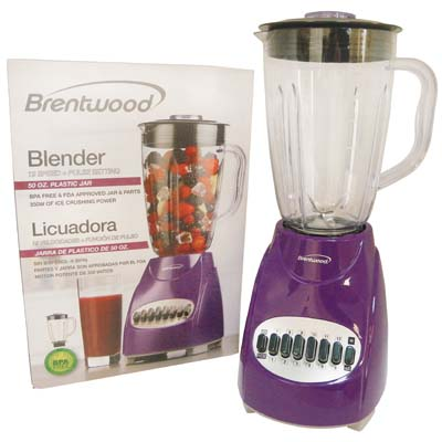 View BRENTWOOD 12 SPEED+PULSE BLENDER 50 OUNCES PURPLE CETL LISTED