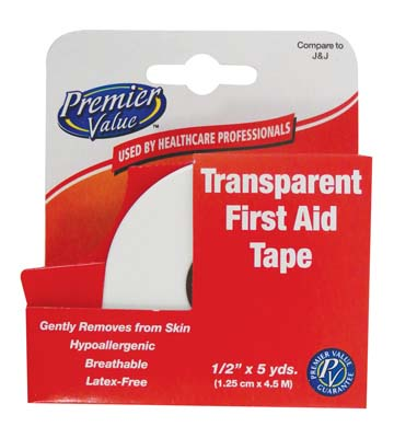View FIRST AID TAPE 1/2 INCH X 15 FEET TRANSPARENT