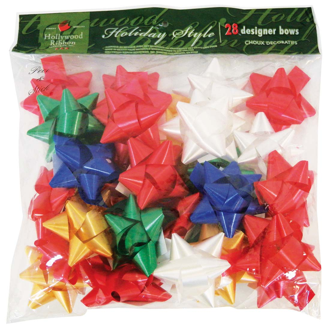 View GIFT BOWS 28 COUNT MEDIUM PEEL AND STICK