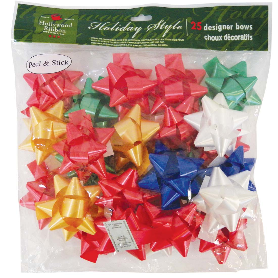View GIFT BOWS 25 COUNT MEDIUM PEEL AND STICK