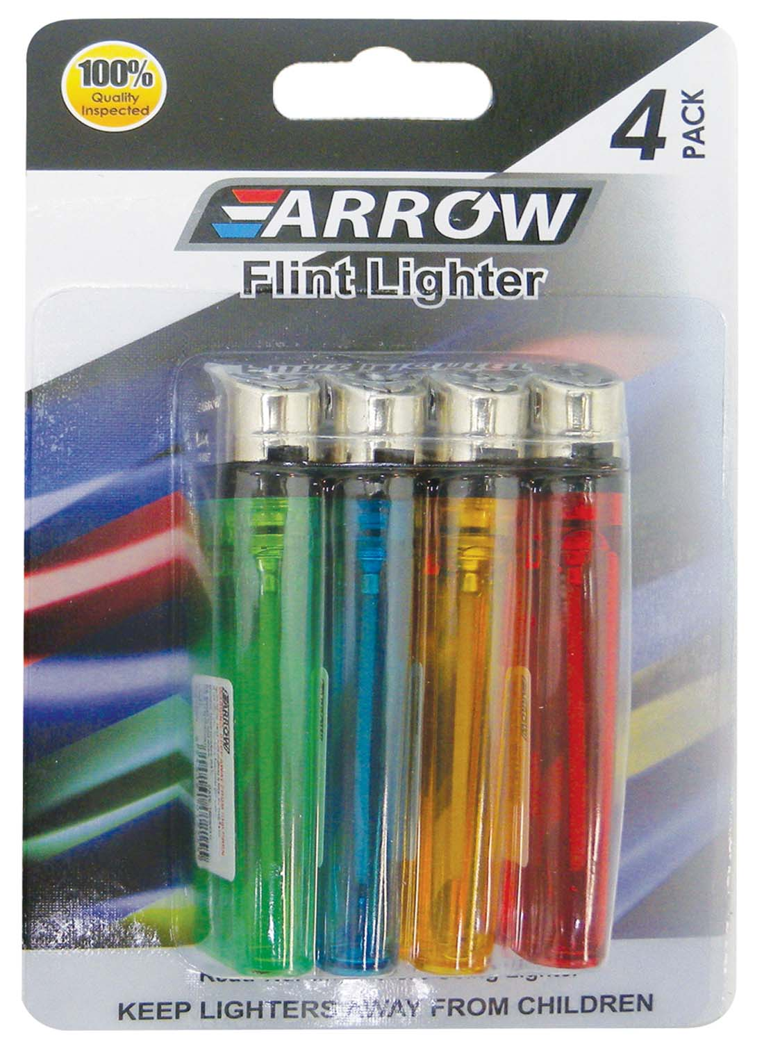 View ARROW DISPOSABLE LIGHTER 4 PACK ASSORTED COLORS