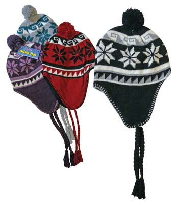 View LADIES ADULT HAT PERU DESIGN ASSORTED COLORS