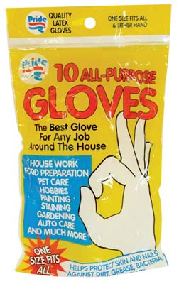 View LATEX GLOVE 10 PACK ALL PURPOSE