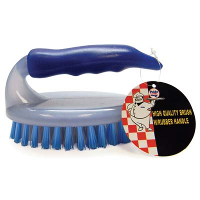 View HIGH QUALITY SCRUB BRUSH 4.5 INCH WITH RUBBER HANDLE