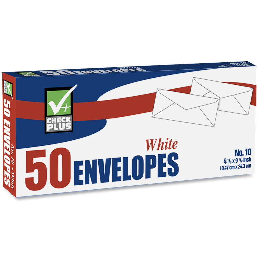 View WHITE ENVELOPE 50 COUNT #10