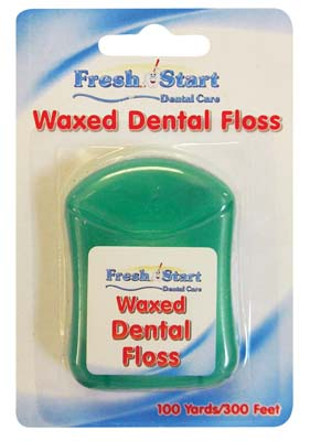 View FRESH START WAXED DENTAL FLOSS 100 YARDS