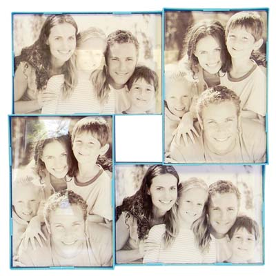View COLLAGE PHOTO FRAME 4-4 X 6 INCH SECTIONS ASSORTED COLORS