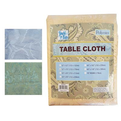 View FABRIC TABLE CLOTH 52 X 70 INCH HIGH QUALITY BEIGE