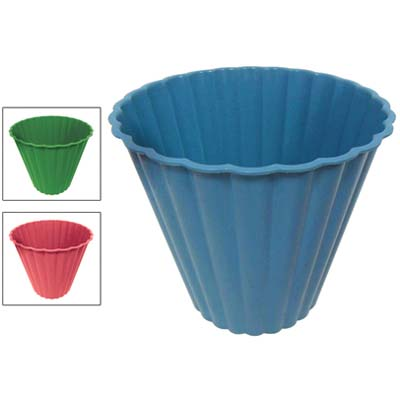 View TRASH BIN 2.35 GALLON ROUND ASSORTED COLORS