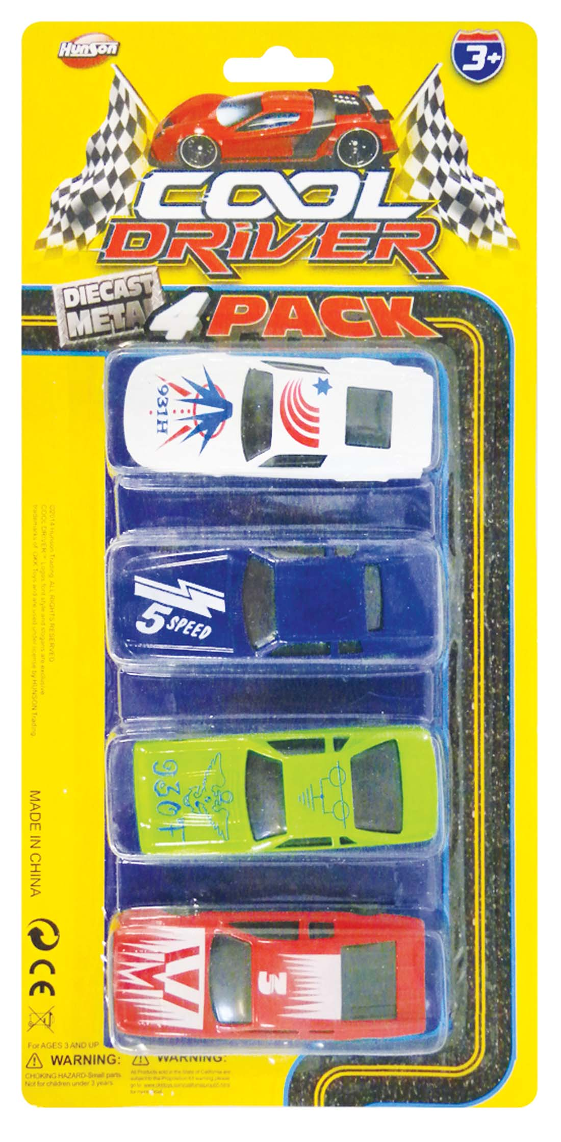"View DIE CASE MINI CARS 2.75"" 4 PACK"