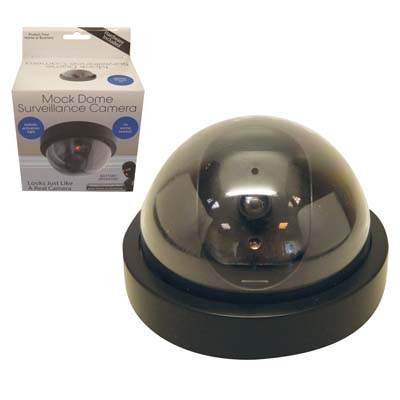 "View MOCK DOME SURVEILLANCE CAMERA ""BATTERIES NOT INCLUDED"""