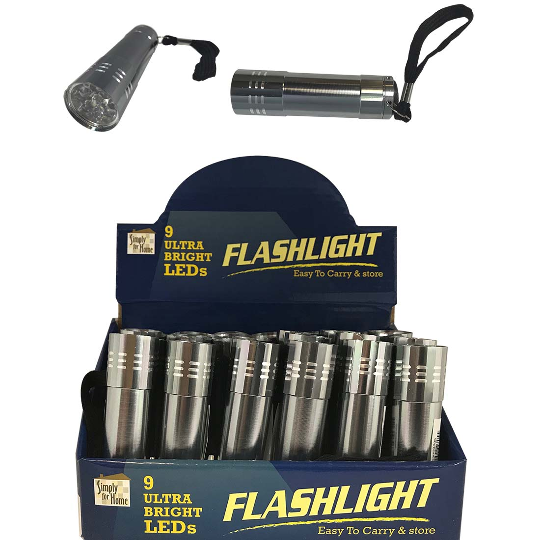 "View 9 LED FLASHLIGHT 3.5 INCH IN DISPLAY ""BATTERIES NOT INCLUDED"""