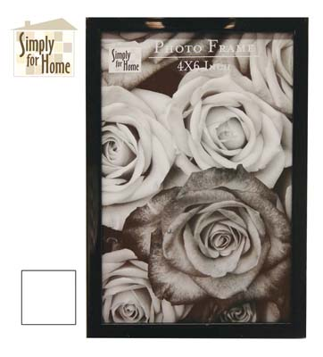View PLASTIC PHOTO FRAME 4 X 6 INCH BLACK/WHITE