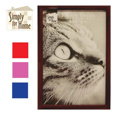 View PLASTIC PHOTO FRAME 4 X 6 INCH ASSORTED COLORS