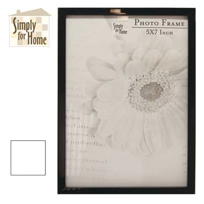 View PLASTIC PHOTO FRAME 5 X 7 INCH BLACK/WHITE