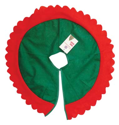 View  CHRISTMAS TREE SKIRT 24 INCH FELT