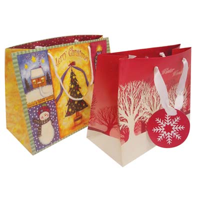 View CHRISTMAS GIFT BAG MEDIUM ASSORTED DESIGNS PREPRICED $1.00