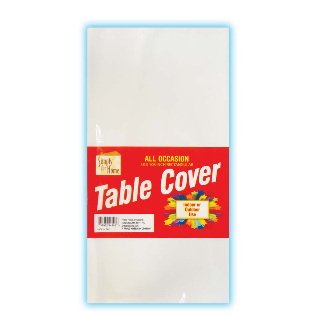 View PLASTIC TABLE COVER 54 X 108 INCH CLEAR