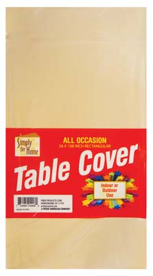 View PLASTIC TABLE COVER 54 X 108 INCH BEIGE